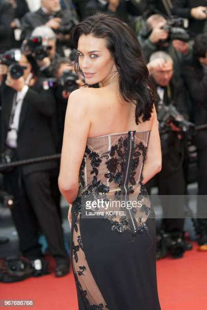 Megan Gale attends 'Jimmy P ' Premiere during the 66th Annual Cannes Film Festival at Grand Theatre Lumiere on May 18 2013 in Cannes France