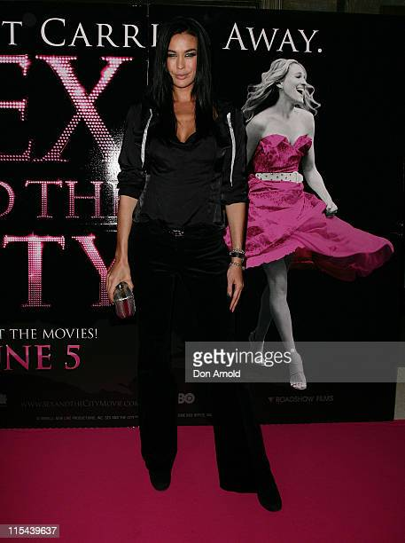 Megan Gale attends the Australian premiere of `Sex and the City' at the Hoyts Cinema in the Entertainment Quarter on June 2, 2008 in Sydney,...