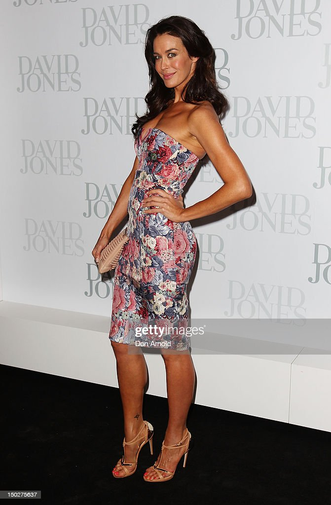 Megan Gale attends the David Jones S/S 2012/13 Season Launch at David Jones Castlereagh Street, on August 14, 2012 in Sydney, Australia.
