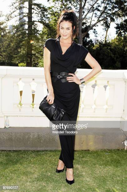 Megan Gale attends the Opening Night Party for the 2010 L'Oreal Melbourne Fashion Festival at Government House on March 14 2010 in Melbourne Australia