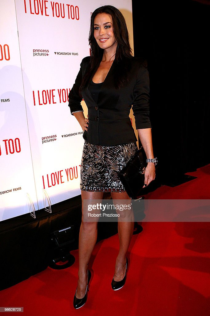 Megan Gale attends the premiere of 'I Love You Too' at Village Jam Factory on April 23, 2010 in Melbourne, Australia.