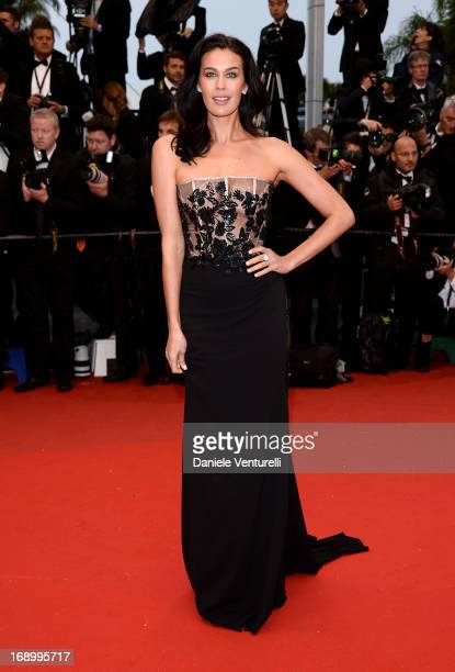 Megan Gale attends the Premiere of 'Jimmy P ' at Palais des Festivals during The 66th Annual Cannes Film Festival on May 18 2013 in Cannes France