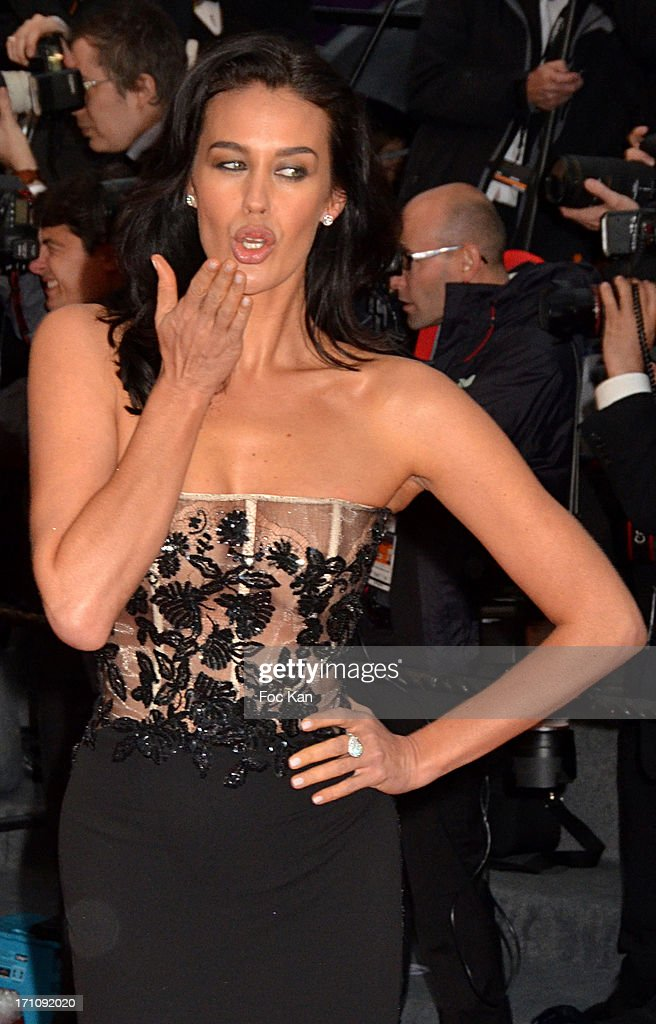 Megan Gale attends the Premiere of 'Jimmy P. (Psychotherapy Of A Plains Indian)' at Palais des Festivals during The 66th Annual Cannes Film Festival on May 18, 2013 in Cannes, France.