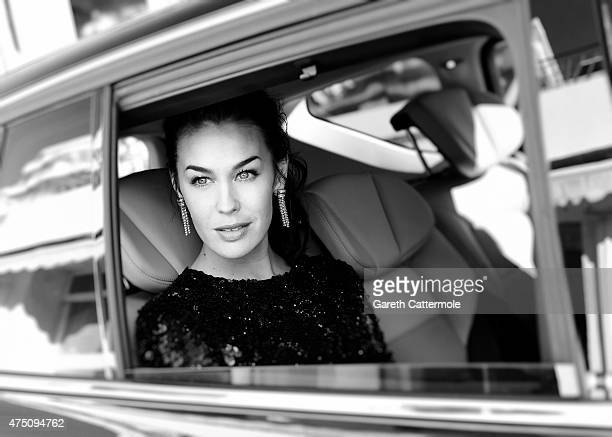 Megan Gale departs the Martinez Hotel during the 68th annual Cannes Film Festival on May 20 2015 in Cannes France