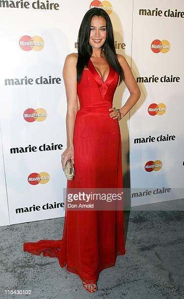 Megan Gale during 2007 Marie Claire Awards at White Bay Studios in Sydney NSW Australia