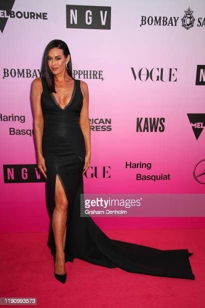 Megan Gale during the NGV Gala 2019 at the National Gallery of Victoria on November 30 2019 in Melbourne Australia