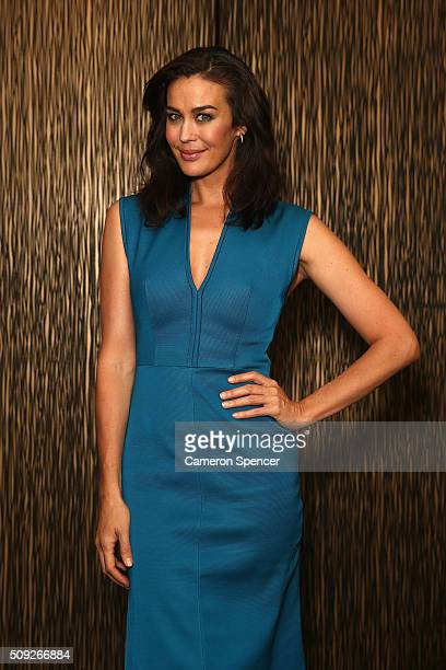Megan Gale poses after being announced as Tourism New Zealand's celebrity ambassador promoting 100% Pure New Zealand Cycling campaign during a press...