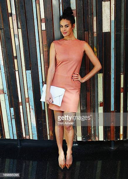 Megan Gale poses during a media call where the ASTRA Awards Finalists are announced at Sydney Theatre on June 4 2013 in Sydney Australia