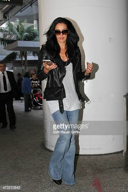 Megan Gale seen at LAX on May 04 2015 in Los Angeles California