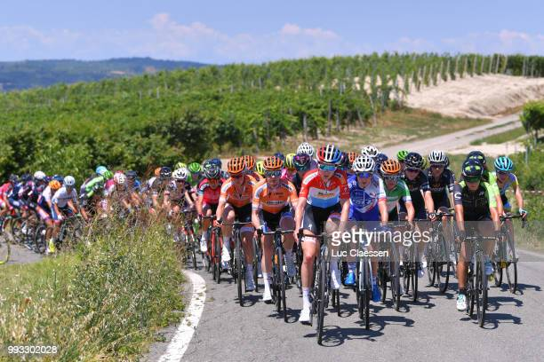 Megan Guarnier of The United States and Boels Dolmans Cycling Team / Christine Majerus of Luxembourg and Boels Dolmans Cycling Team / KarolAnn Canuel...