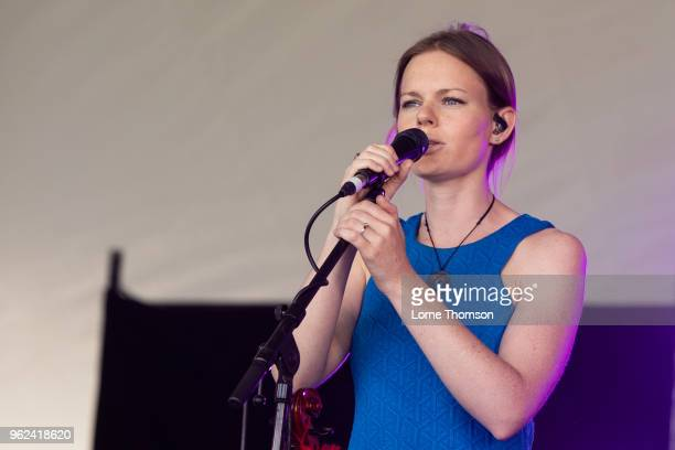 Megan Henderson of Breabach performs at BBC Music The Biggest Weekend at Scone Palace on May 25 2018 in Perth Scotland