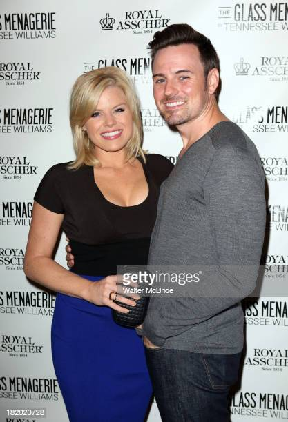 Megan Hilty and Brian Gallagher attend the Broadway Opening Night Performance of 'The Glass Menagerie' at Booth Theater on September 26 2013 in New...