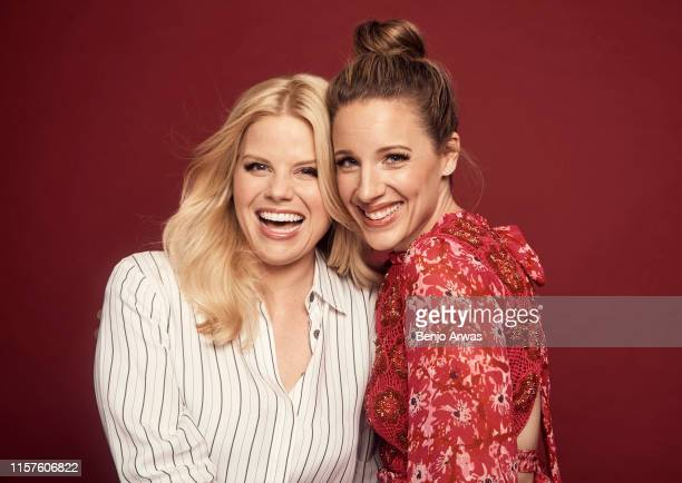 Megan Hilty and Jessie Mueller of Lifetime TV's 'Patsy Loretta' pose for a portrait during the 2019 Summer TCA Portrait Studio at The Beverly Hilton...