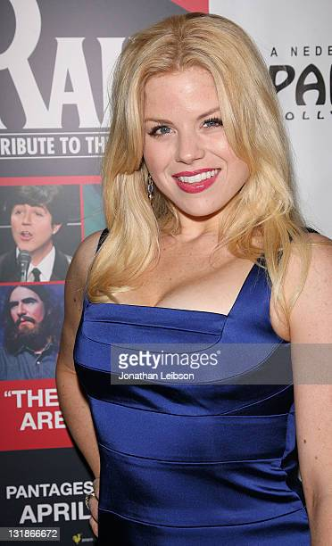 Megan Hilty arrives to Rain Los Angeles Opening Night at the Pantages Theatre on April 12 2011 in Hollywood California