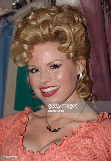 Megan Hilty as Doralee poses backstage at the hit new musical 9 to 5 on Broadway at The Marquis Theatre on April 13 2009 in New York City
