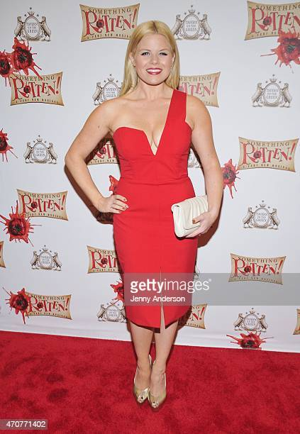 Megan Hilty attends Something Rotten Broadway Opening Night at St James Theatre on April 22 2015 in New York City