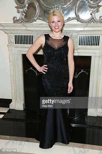 Megan Hilty poses for a photo after performing at her show at Cafe Carlyle at The Carlyle Hotel on May 3 2016 in New York City