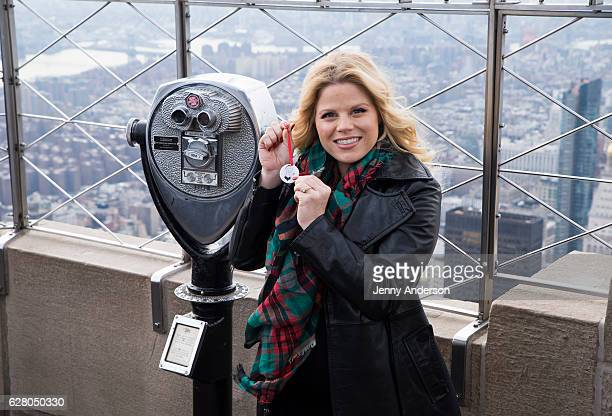 Megan Hilty visits the Empire State Building on December 6 2016 in New York City