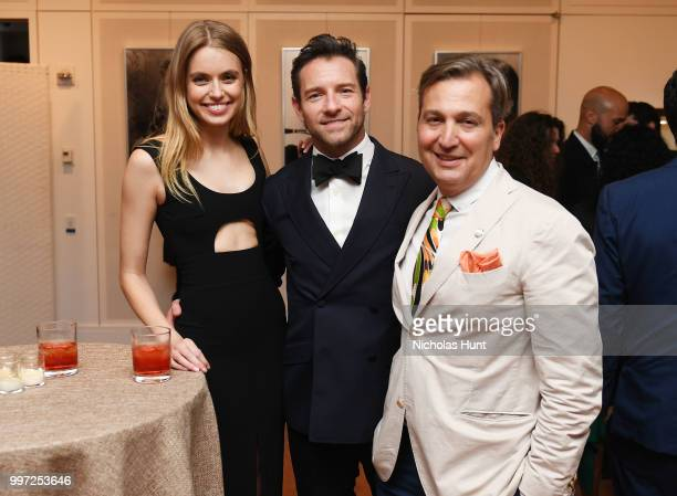 Megan Irminger Ian Bohen and VP Consumer Advertising Dow Jones Publisher of WSJ Magazine Anthony Cenname attend the Breguet 'Classic Tour' at...