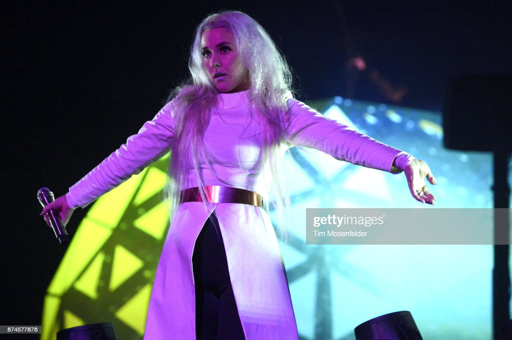 Megan James of Purity Ring performs at SAP Center on