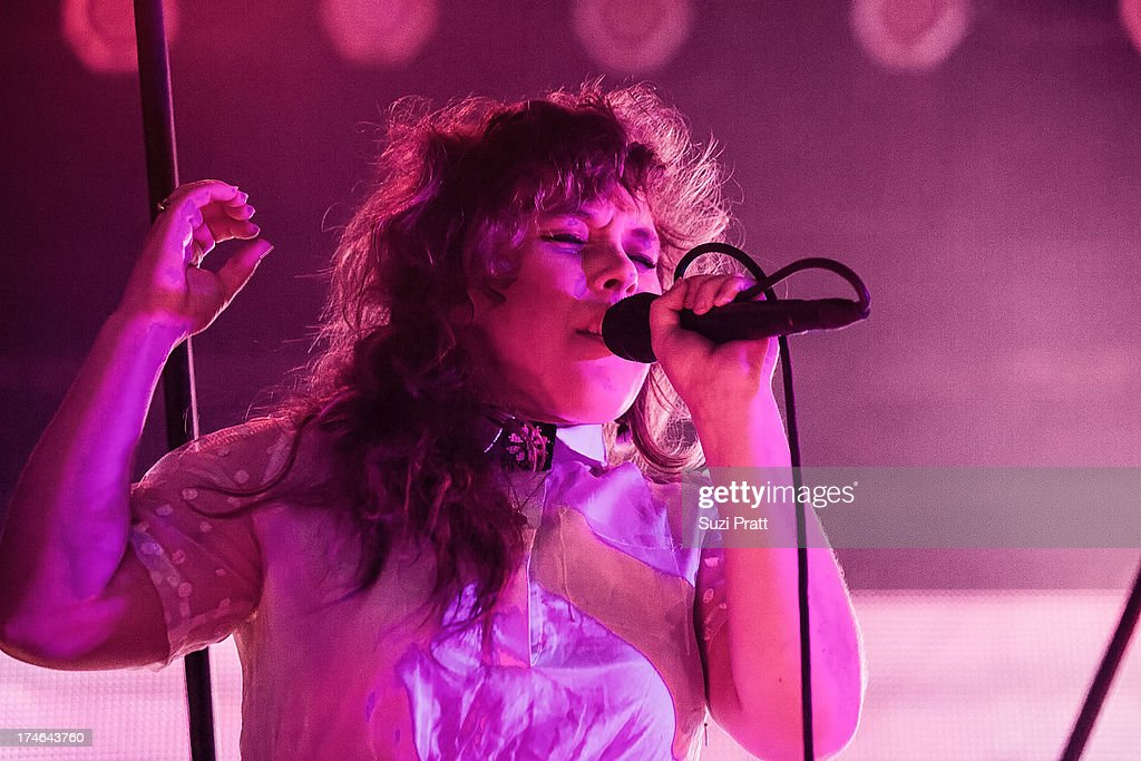 Megan James of Purity Ring performs at the Capitol Hill