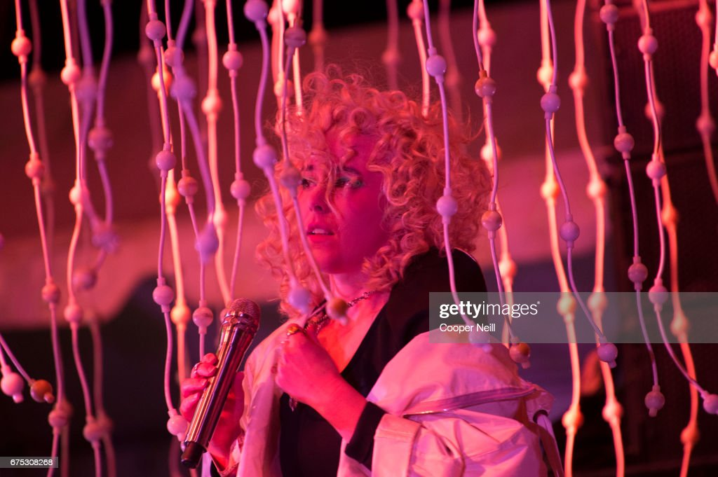 Megan James of Purity Ring performs during Fortress Festival on April 30, 2017 in Fort Worth, Texas.