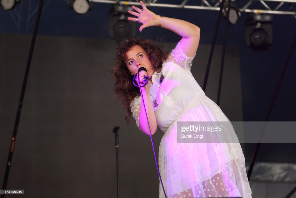 Megan James of Purity Ring performs on stage on day 3 of