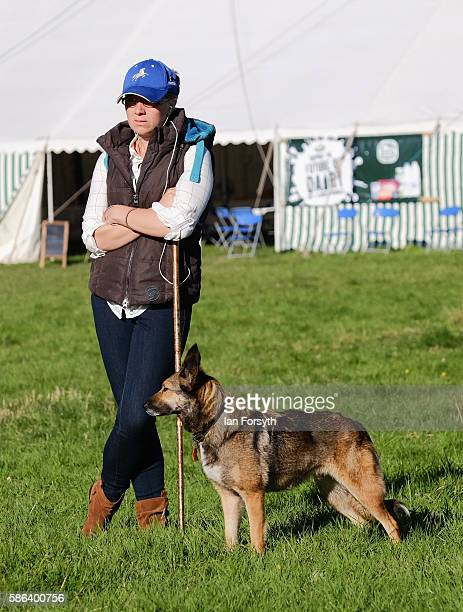 Megan Jenkins and her sheepdog Ember from Norfolk wait to run at the British National Sheep Dog Trials on August 6, 2016 in York, England. Some 150...