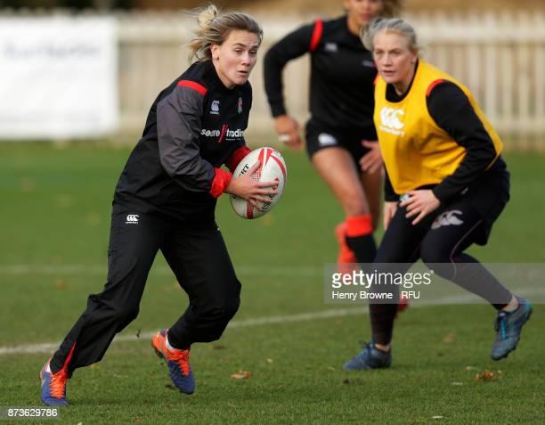 Megan Jones during England Women Sevens training at Bisham Abbey on November 13 2017 in Marlow England