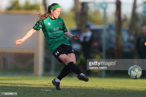 Megan Kelly of Florentia San Gimignano Women scores a goal during the Women Serie A match between Florentia and AC Milan on November 30 2019 in...