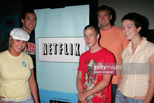 Megan Krizmanich, Colin Clemens, Jake Tusing, Mitch Reinholt and Hannah Bailey, who appear in the documentary, attend the 2008 Los Angeles Film...