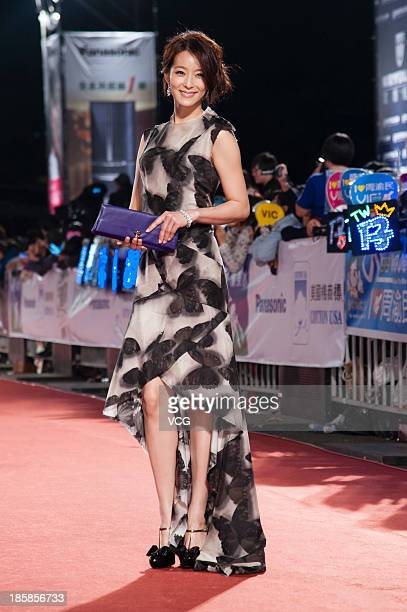 Megan Lai attends the red carpet of the 48th Golden Bell Award on October 25 2013 in Taipei Taiwan of China
