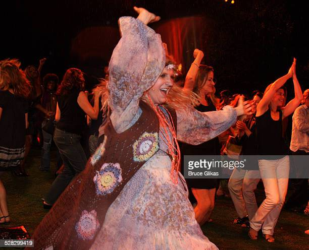 Megan Lawrence during the Opening Night Curtain Call of Hair at Shakespeare in the Park at the Delacorte Theater in Central Park on August 7, 2008 in...