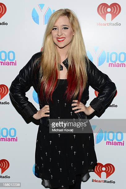 Megan Mace attends the Y100's Jingle Ball 2012 at the BBT Center on December 8 2012 in Miami