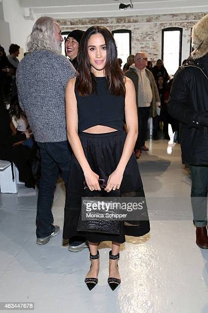 Megan Markle attends the Misha Nonoo fashion show during MercedesBenz Fashion Week Fall 2015 the at Center 548 on February 14 2015 in New York City