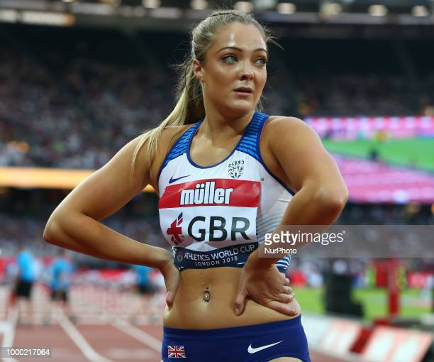 Megan Marrs of Great Britain and Northern Ireland compete in 200m Women during Athletics World Cup London 2018 at London Stadium, London, on 15 July...