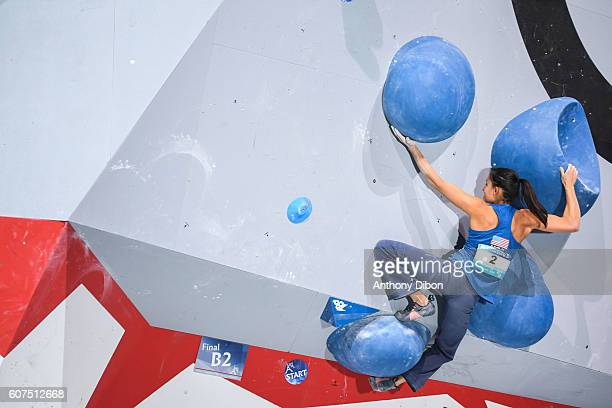 Megan Mascarenas of United States during the World Championship Final Climbing at AccorHotels Arena on September 18 2016 in Paris France
