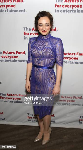 Megan McGinnis attends the after party for the Actors Fund's 15th Anniversary Reunion Concert of 'Thoroughly Modern Millie' on February 18 2018 at...