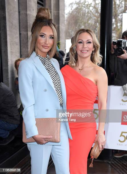 Megan McKenna and Kristina Rihanoff attend the 2019 'TRIC Awards' held at The Grosvenor House Hotel on March 12 2019 in London England
