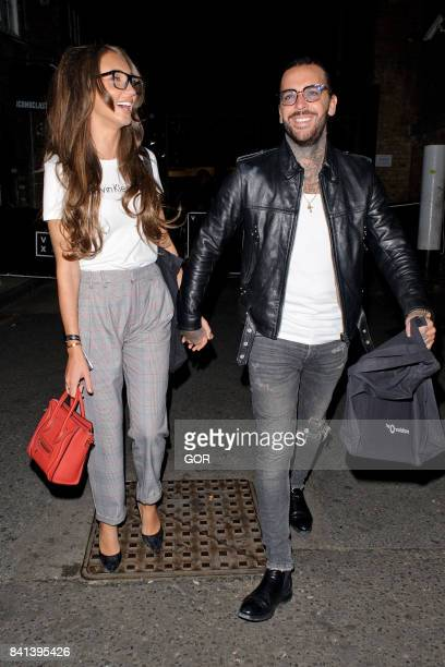Megan McKenna and Pete Wicks leaving a gig in Brick Lane on August 31 2017 in London England