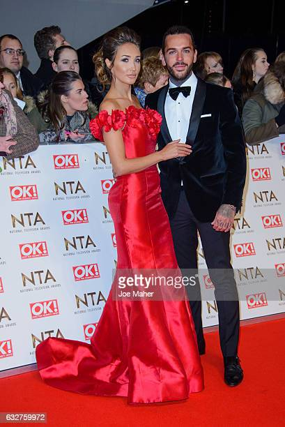Megan McKenna and Peter Wicks attend the National Television Awards on January 25 2017 in London United Kingdom