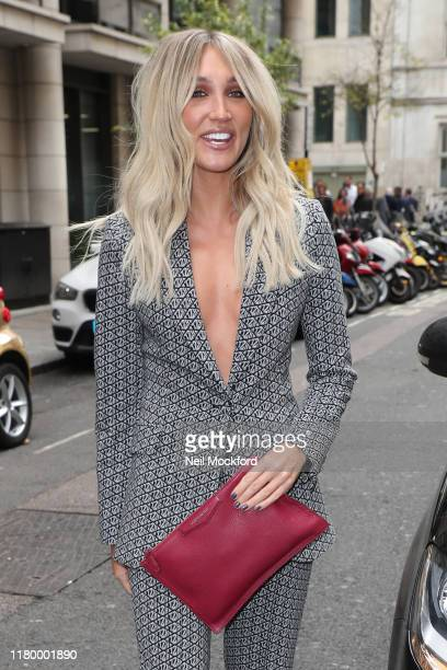 Megan McKenna arrives at the May Fair Hotel for an X Factor 2019 launch photocall on October 09 2019 in London England