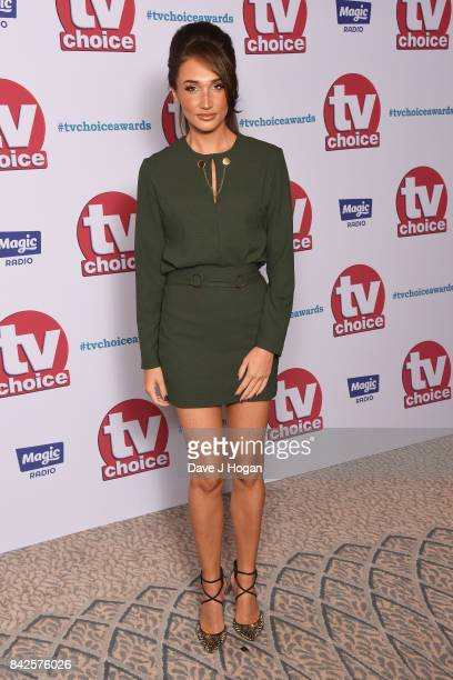 Megan McKenna arrives at the TV Choice Awards at The Dorchester on September 4 2017 in London England