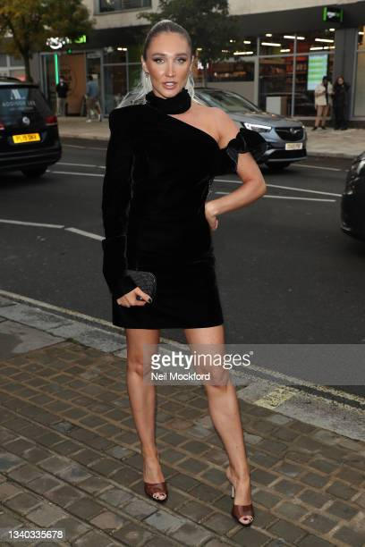Megan McKenna arrives for The Sun's Who Cares Wins Awards 2021 at The Roundhouse sighting on September 14, 2021 in London, England.