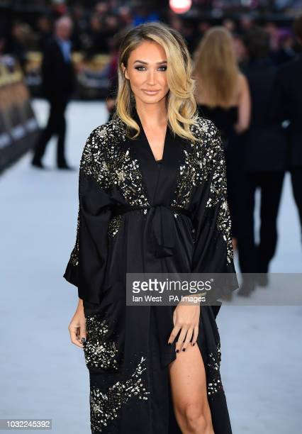 Megan McKenna arriving for the King of Thieves World Premiere held at Vue West End Leicester Square London