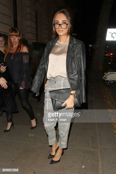 Megan McKenna attending the Specsavers 'Spectacle Wearer of the Year' awards on October 10 2017 in London England