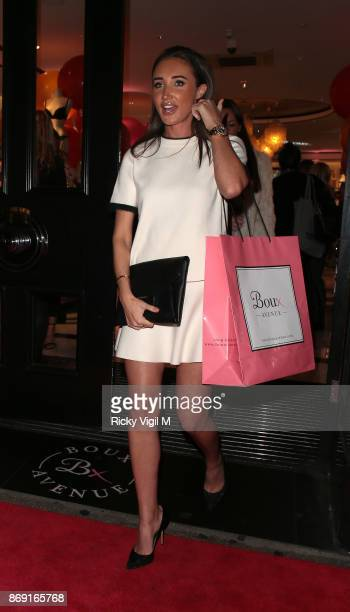 Megan McKenna attends Boux Avenue Christmas campaign launch on November 1 2017 in London England