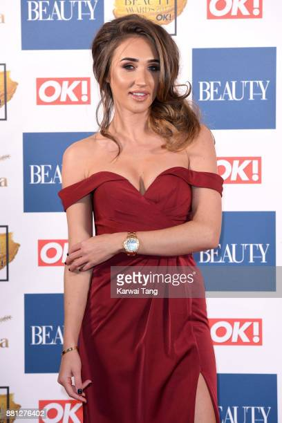 Megan McKenna attends The Beauty Awards at Tower of London on November 28 2017 in London England