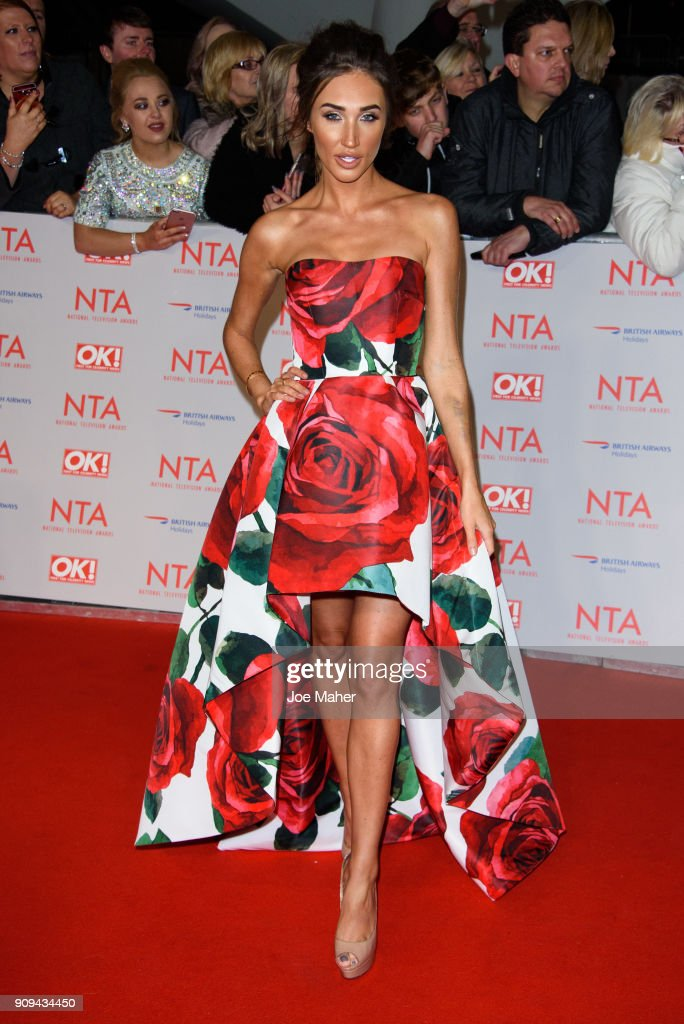 Megan McKenna attends the National Television Awards 2018 at The O2 Arena on January 23, 2018 in London, England.