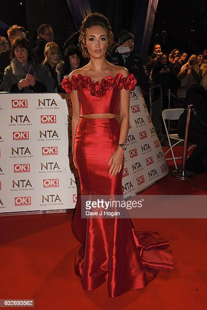 Megan McKenna attends the National Television Awards at Cineworld 02 Arena on January 25 2017 in London England